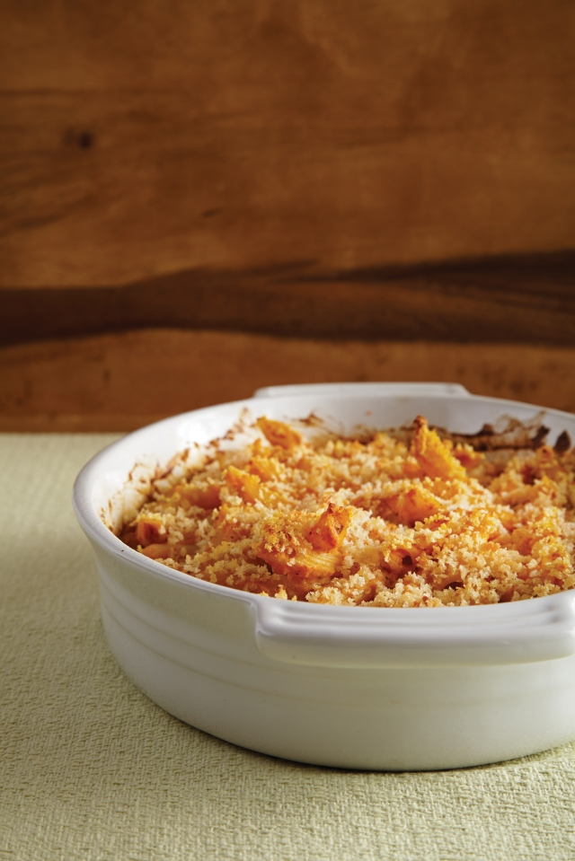 Baked Penne With Pumpkin Cream Sauce from VEGAN CASSEROLES (Running Press). Photo credit: Felicia Perretti.