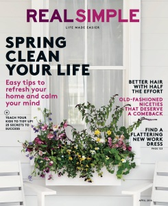 Real Simple April 2016 cover